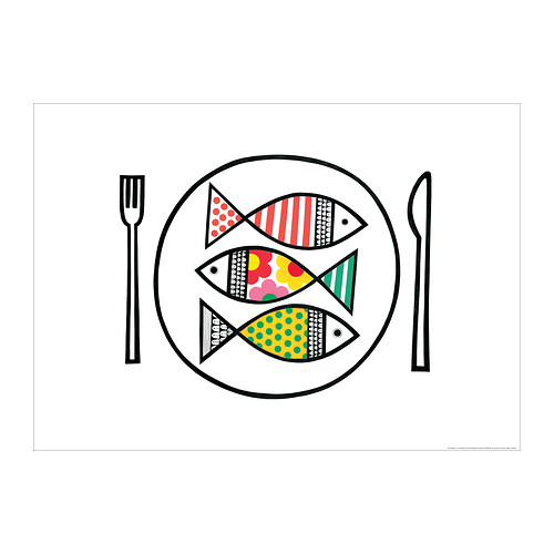 ikea fish print