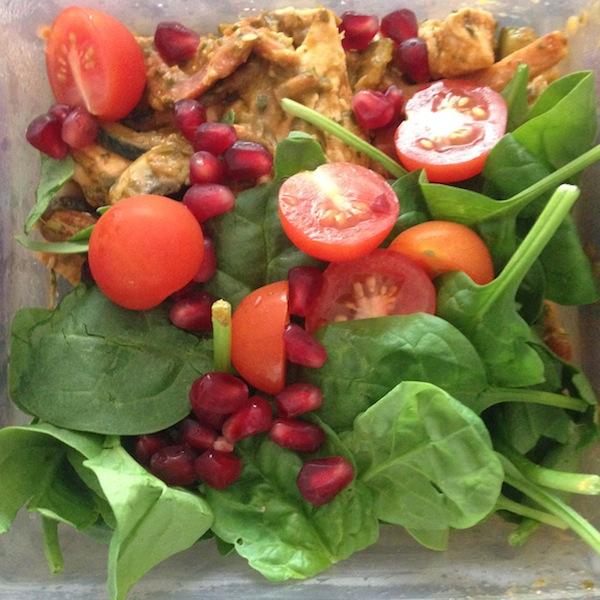 Leftover Creamy Chicken & Salad