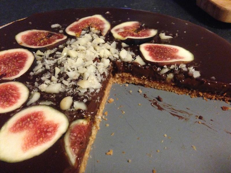 Coconut & Chocolate tart