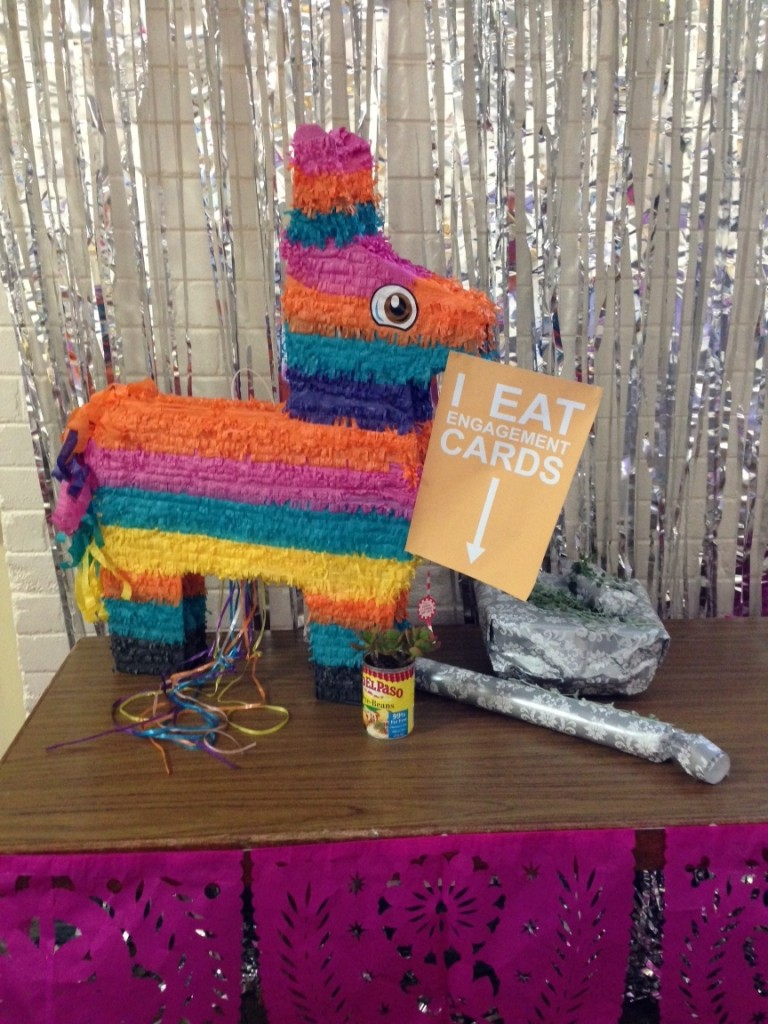 The card-eating pinata was a definite decoration win!