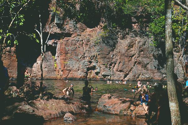 Florence Falls swimming