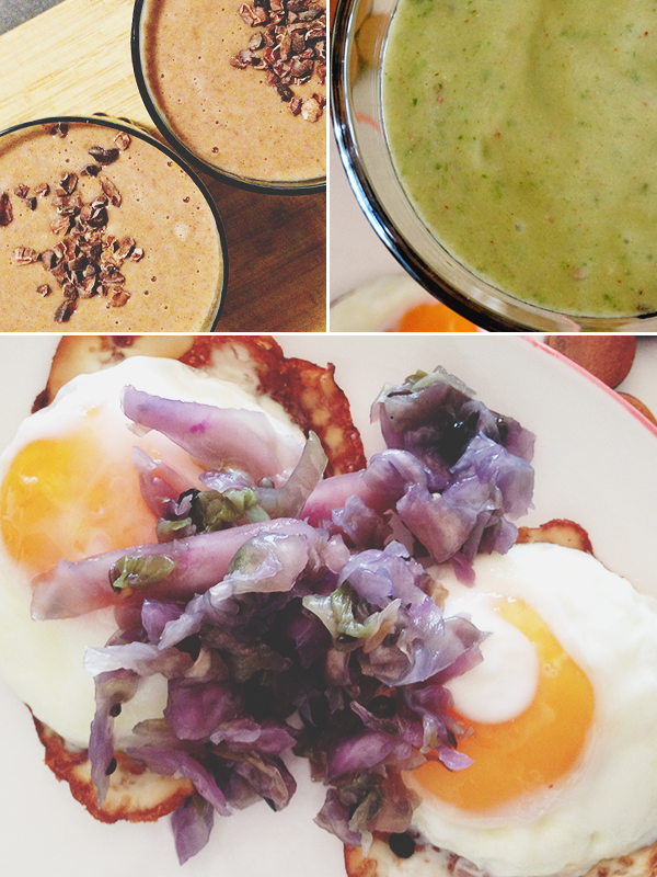 Fried eggs, sauerkraut & a speedy smoothie | Week of Eats: Winter breakfasts | lizniland.com