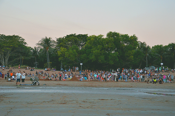 The crowd at Mindil Beach