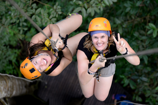 Me hanging out with Steph | When in Chiang Mai: Elephants & Ziplining | lizniland.com