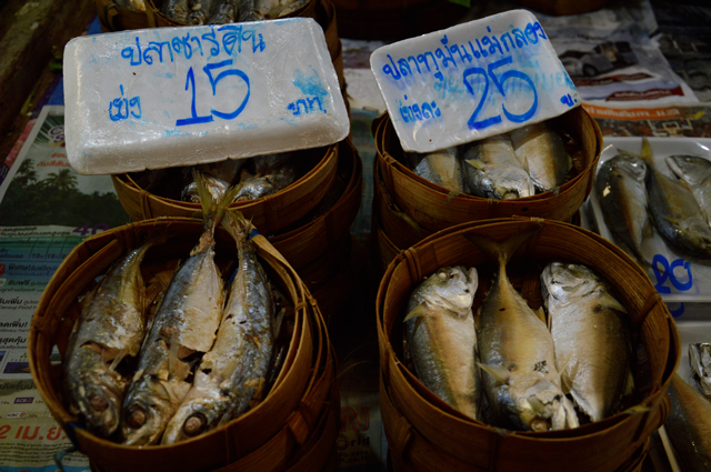 Baskets of fish | When in Chiang Mai: Fresh food markets | lizniland.com