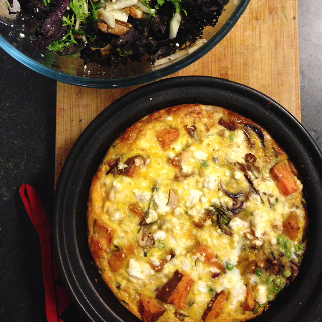 Frittata | Review: Nourish by Lorna | lizniland.com