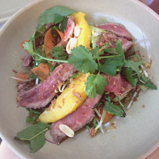 Thai Beef Salad at One Penny Black | lizniland.com