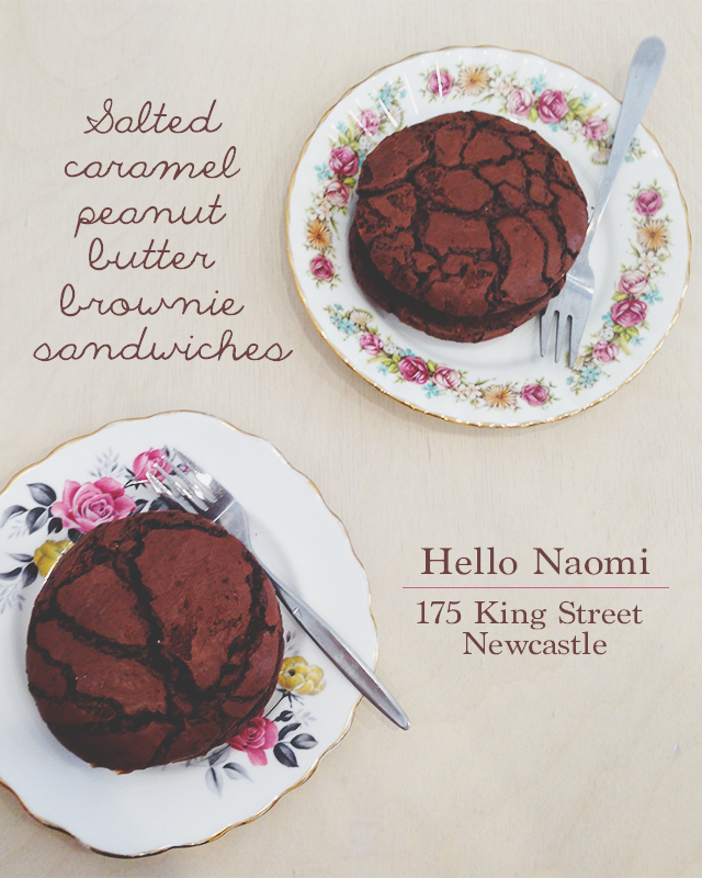 Brownie Sandwiches | Hello Naomi | lizniland.com
