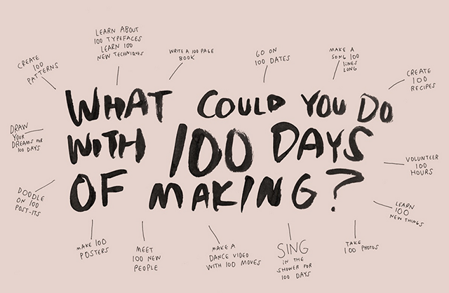 100 days project | lizniland.com