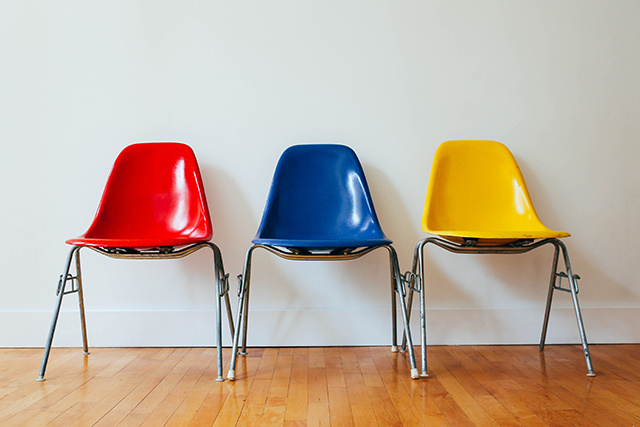 Coloured chairs | lizniland.com
