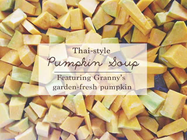 Thai style pumpkin soup recipe | lizniland.com