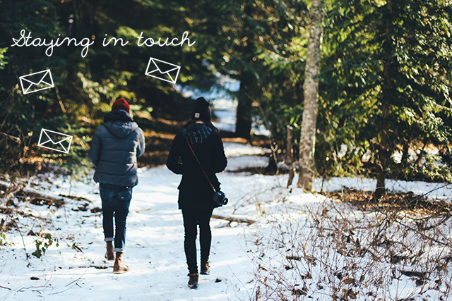Keeping in touch with far-flung friends | lizniland.com