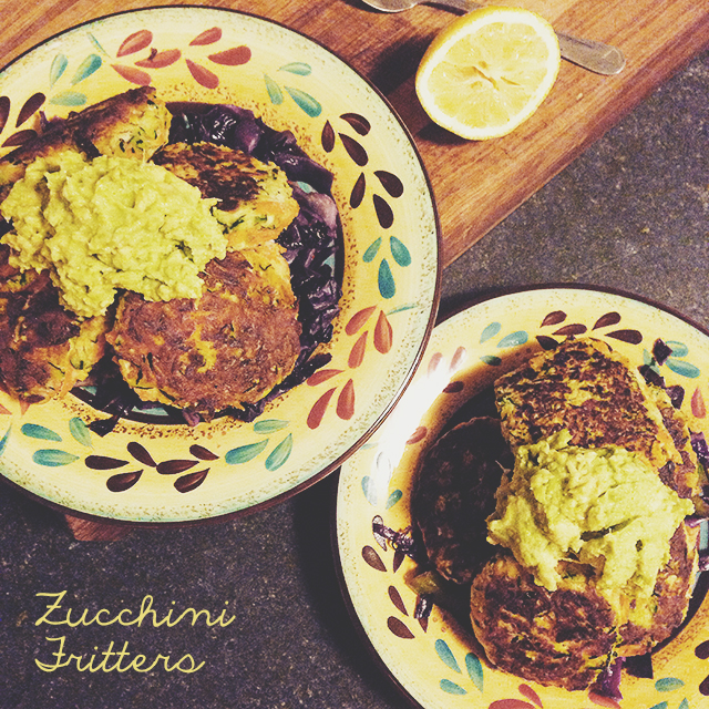 Zucchini Fritters| The Happy Cookbook by Lola Berry | lizniland.com