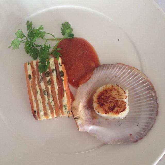 Salmon terrine | Reef Restaurant | lizniland.com