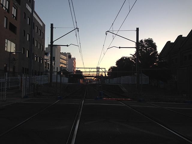 Train track at sunset | lizniland.com