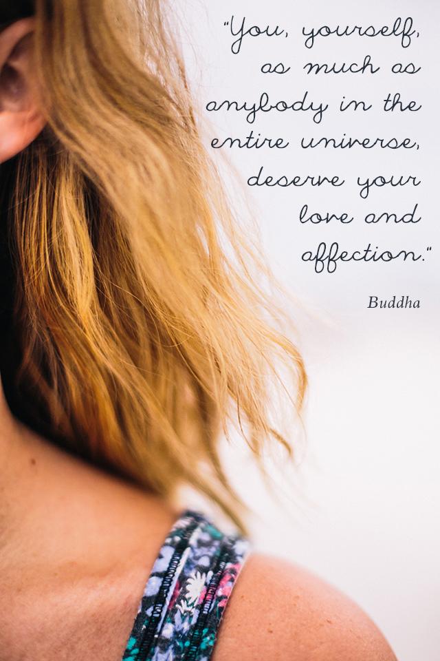 You deserve love - Buddha quote | lizniland.com