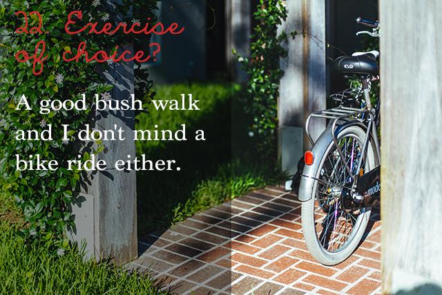 Bush walk & bike ride| 25 questions | lizniland.com